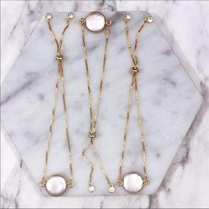 14K Gold Minimalist Dainty Pearl Bracelet BTQ02
